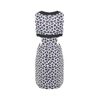 black point patterned dress multi